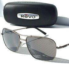 NEW* REVO REVEL Aviator LEAD w GREY POLARIZED Sunglass RE5002X 00
