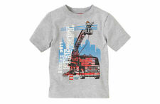SFK Children's Place Lego Fire Truck - H/T Grey shirt kids tshirt