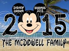 Personalized Disney Mickey Minnie Mouse Bahamas Cruise Stateroom Door Magnet