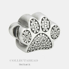 Authentic Pandora Sterling Silver Paw Prints Bead 791714CZ