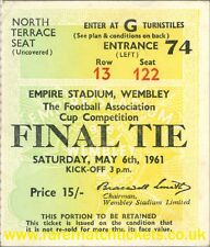 reproduction 1961 TOTTENHAM HOTSPUR LEICESTER fa cup final ticket [RMT]