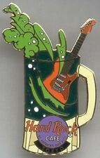 Hard Rock Cafe TOKYO 2001 St. PATRICK'S DAY PIN Beer Mug with Guitar HRC #10118