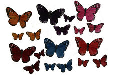 36 Assorted Artificial Butterflies Fake Floral Wedding Butterfly Jewel Tone C
