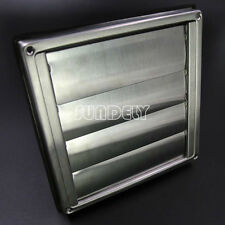 "Stainless Steel Square Air Vent Grill 150 mm 6"" - Extractor - Wall Vent Gravity"