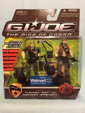 G.I. Joe Rise Of Cobra ROC WalMart Tunnel Rat Vs. Monkey Wrench MOSC