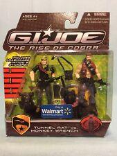 G.I. Joe Rise Of Cobra ROC WalMart Tunnel Rat Vs. Monkey Wrench MOSC