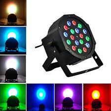 RGB 18x3W LED Stage Lights PAR DMX512 Lighting Projector Party DJ Light