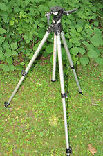 EXTRA NICE  MANFROTTO 3020 TRIPOD & MANFROTTO HEAD MODEL 3028 #1