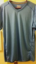 NEW W/ TAGS MEN'S SHIRT LAYER 8 PERFORMANCE QWICK-DRY SIZE M.BLUE W/SMALL STRIPE