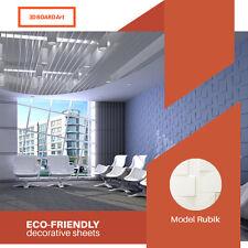 3D Board Art - (Model: Rubik) Decorative Wall Panels, 12 Tiles / 32 Square Ft