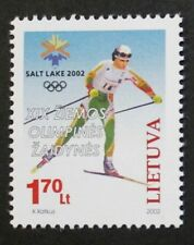 Winter Olympic games, (USA) stamp, skier, 2002, Lithuania, SG ref: 775, MNH