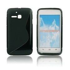 CUSTODIA COVER per ALCATEL ONE TOUCH M'POP 5020D BACK CASE S-LINE NERA