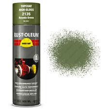 x2 Industriel Rust-Oleum Reseda Vert Peinture Aérosol Solide Chapeau 500ml RAL