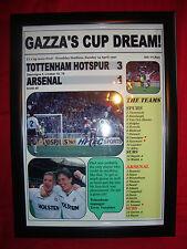 Tottenham Hotspur 3 Arsenal 1 - 1991 FA Cup semi-final - framed print