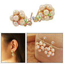 Perle Disco Balls Crystal strass Boucles d'oreille de Puces