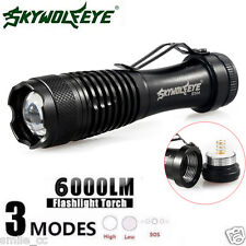 6000LM Zoom MINI Tactical Flashlight CREE Q5 LED 14500 Waterproof Police Torch