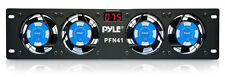 "Pyle PFN41 19"" Rack Mount Cooling Fan System W/Temperature Display"