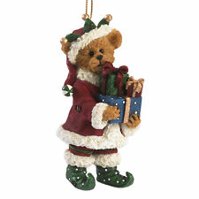 Boyds Bears Holly Elf Bear Christmas Ornament w/Presents ~ 4041898