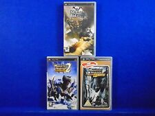 psp MONSTER HUNTER FREEDOM x3 Games #y 1 + 2 + Unite PAL UK REGION FREE