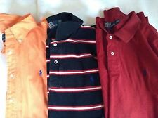 Mens Lot of 3 Ralph Lauren Polo Shirts Size 2XL Short  and Long Sleeve EUC