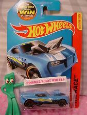 Case F 2014 Hot Wheels TWINDUCTION #176☆Blue; Orange rim☆HW Race☆Track Aces