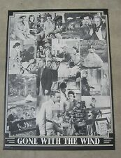 Clark Gable Gone With The Wind collage poster black and white