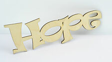 Plain HOPE Wooden Script Letter Sign/ Wall Plate/ Home Decor/ Door Sign