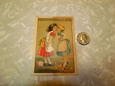 French's Crushed Mocha & Java Coffee Little Girls Kissing Broken Doll Cute Image