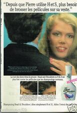 Publicité advertising 1984 Le Shampooing Head & Shoulders