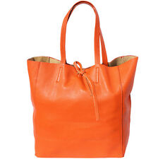 Borsa Shopping Cuoio Pelle Leather Shopping Bag Italian Made In Italy 9121