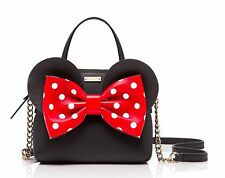 NWT Kate Spade for minnie mouse maise Leather Satchel Crossbody Bag Disney! Rare
