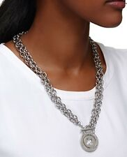 �� Mimco New Supernatural Neck Silver Choker Necklace + Dust Bag