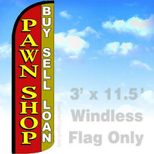 Flag Only 3' WINDLESS Swooper Feather Sign - PAWN SHOP BUY SELL LOAN rq