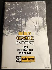 1979 SKI-DOO ELAN, OLYMPIQUE, & EVEREST SNOWMOBILE OWNERS MANUAL   (218)