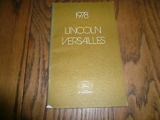 1978 Lincoln Versailles Owner's Manual - Glove Box