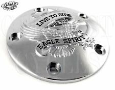 Chrome Ignition Timing Cover Live To Ride Ignition Cover for Harley Twin Cam