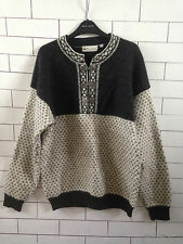 URBAN RENEWAL VTG AZTEC 90'S GRANNY KNIT OVERSIZED CLASP NORWEGIAN SWEATER #8