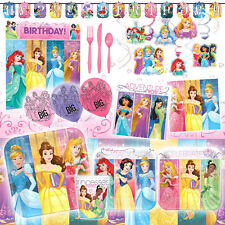 Deluxe Disney Princess Dream Big Birthday Girls Party Pack Decoration Kit For 16