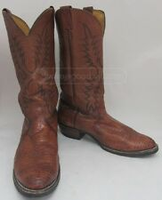 Larry Mahan Reptile Leather Brown Cowboy Western Boots Sz10.5D