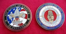 SCOUT SIGN Challenge Coin Law Motto Slogan Cub Boy Scouts Extra Large 1 3/4 Size