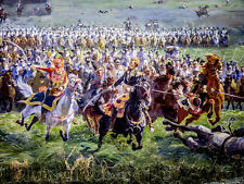 Marshal Ney's Charge at Waterloo  by Louis Dumoulin    Giclee Canvas Print Repro