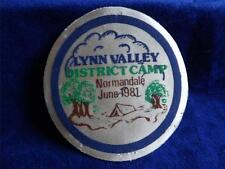 BOY SCOUTS CANADA LYNN VALLEY NORMANDALE 1981 VINTAGE BADGE PATCH CREST LARGE