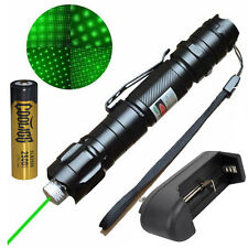 5 Miles 532nm Green Laser Pointer Pen Visible Beam Star Cap + Battery