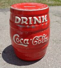 rare antique Coca Cola pottery syrup dispenser advertising bank
