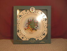 "Lenox Collectibles Disney Mickey Mouse Trimming Tree Plate 10 1/2"" 1997 NIB"