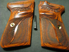 Walther PPKS PPK/S S&W Rosewood Checkered/Stippled Pistol Grips WITH LOGO NEW!