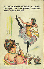 1924 postcard Mutoscope Theatre pinup Risqué Arcade sexy Tights frilly draws