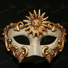 Venetian Masquerade Mardi Gras Mask Vintage Design For Men - Gold