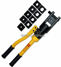 New Hydraulic Electrical Crimping Tool 10 Die Set Up To 10 Tons 500 MCM 240mm
