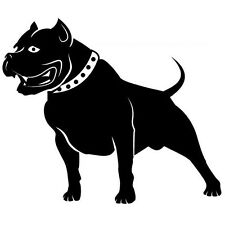 PITBULL STANDING PROUD  CAR DECAL STICKER